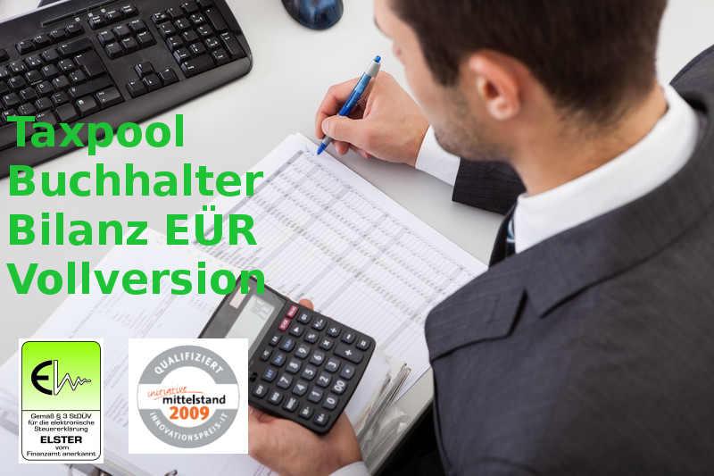 Version 2021 TAXPOOL-BUCHHALTER EÜR Vollversion, Datev Buchhaltung